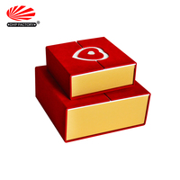 OEM Luxury Cardboard PVC Heart Shape Clear Window Two Door Open Gift Packaging Box For Chocolate Candy
