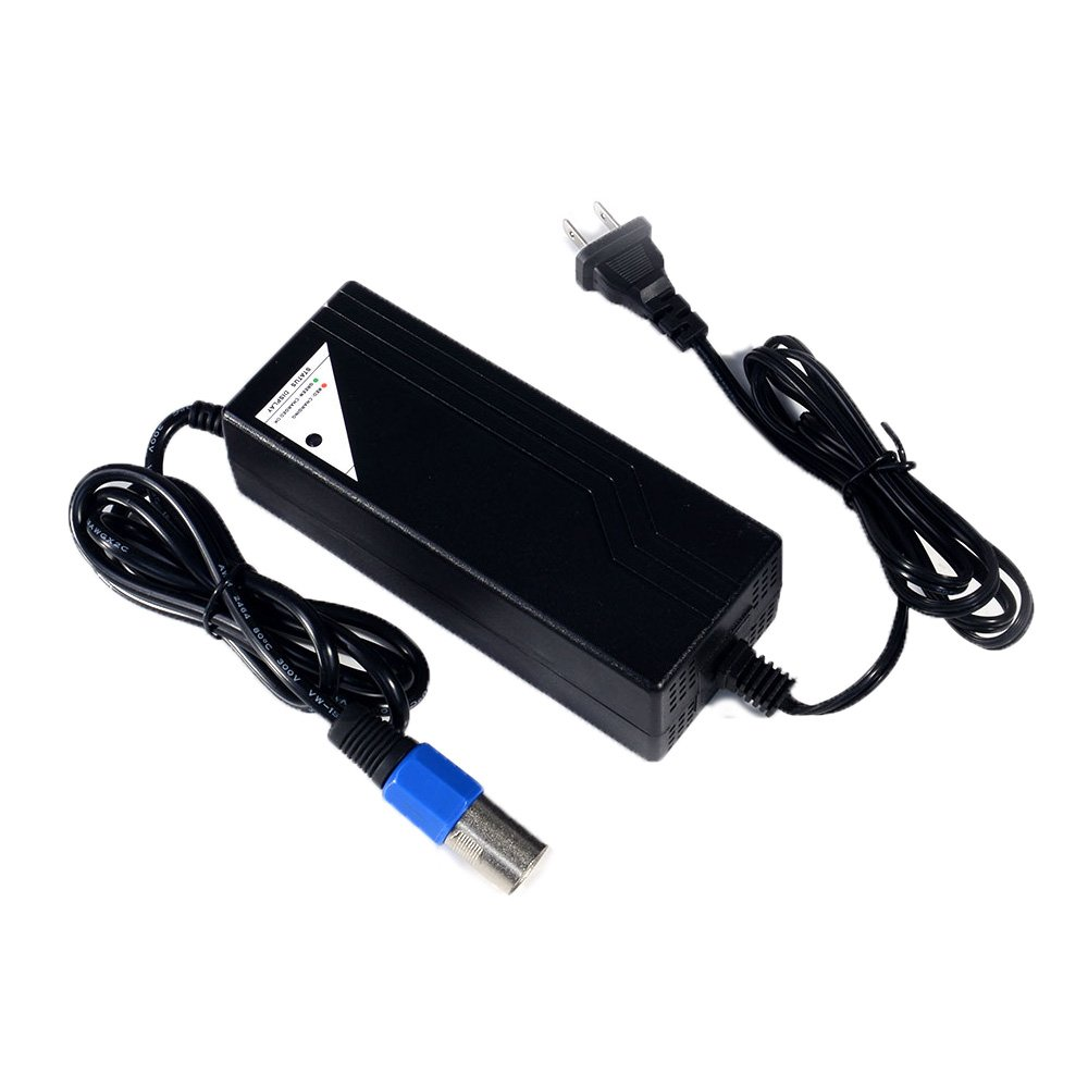 Masione 36 Volt 1.5A XLR Scooter Battery Charger for IZIP I600/I750/I1000 Electric Scooter, Mongoose M750 Electric Scooter Bike Charger