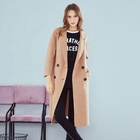 Supply Long Sleeve Camel Wool Winter Warm Trench Coat Pocket For Womens