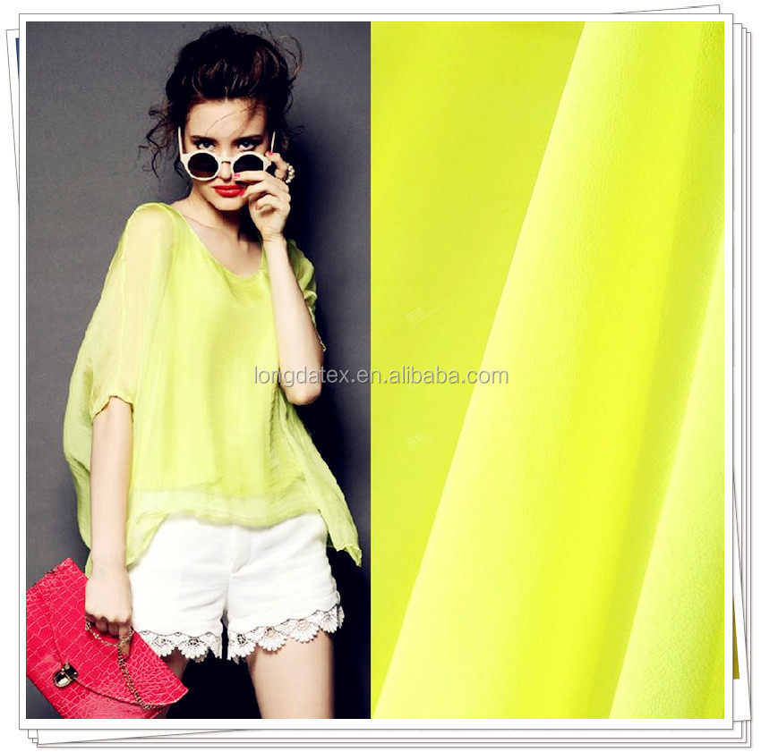 High quality hot sale 100% polyester multi color chiffon fabric