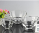 400ml Slope shape glass bowl salad glass bowl unique shape fruit bowl