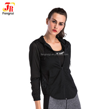 Women Breathable Mesh Hoody Thin Coat Jacket Girls Plain Full Zip Up Hoodie Top Running Outdoors Shirts with Pocket For Training