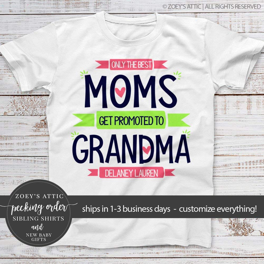 580fa40a Get Quotations · grandma shirt | only the best moms get promoted to grandma  | nana or grandma UNISEX