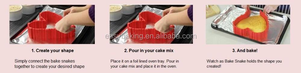 How to use bottomless bake snake silicone cake mold.jpg