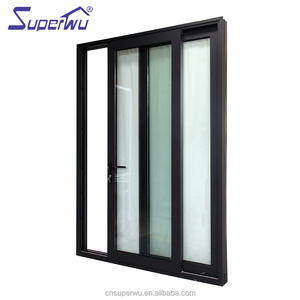 Miami Dade Code standards waterproof hurricane impact aluminium alloy exterior sliding glass doors prices
