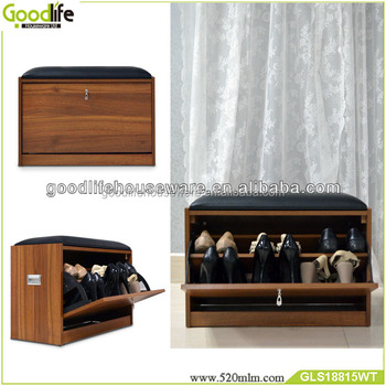 Wooden One Drawer Cabinet Shoe Rack