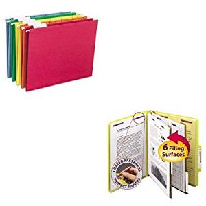 KITSMD14034SMD64059 - Value Kit - Smead Pressboard Classification Folders (SMD14034) and Smead Hanging File Folders (SMD64059)