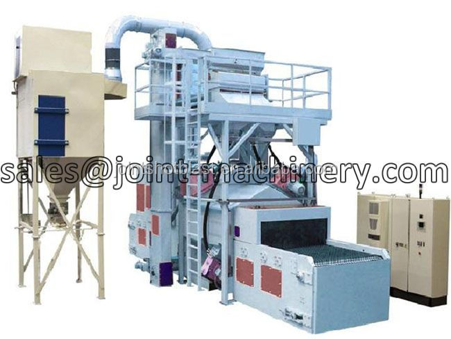 hot selling wire mesh belt roller conveyor shot blasting machine with low price
