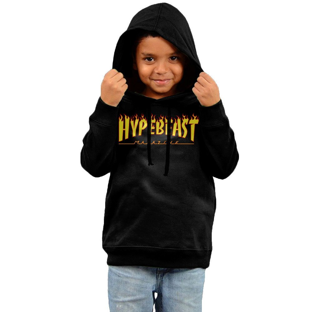 0635d0b6709f Get Quotations · Rom Toddler Kids Thrasher Magazine Flame Logo Hooded  Hoodie Pullover Sweatshirt 5-6 Toddler