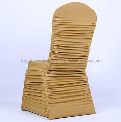 Or Couleur Spandex Fold Couverture De Chaise Pour Le Mariage