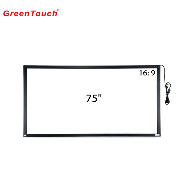 75 inch wall mount touch screen panel/touch screen glas frame voor interactieve whiteboard/industriële kwaliteit touch screen panel