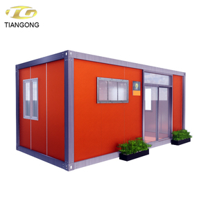 Aluminum alloy glass sliding door container house