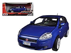 Fiat Grande Punto Blue 1/24 Car Model by Motormax