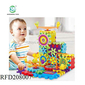 81 PCS funny electric brick Gear Building Toy Set Interlocking Learning Blocks