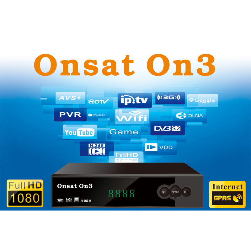 Original ONSAT ON3 DVB-S/S2 Digital Satellite Receiver Software 1080P IPTV  Set Top Box Support Cccam Newcam TCAM, View Onsat On3 DVB-S2/T2 Combo,