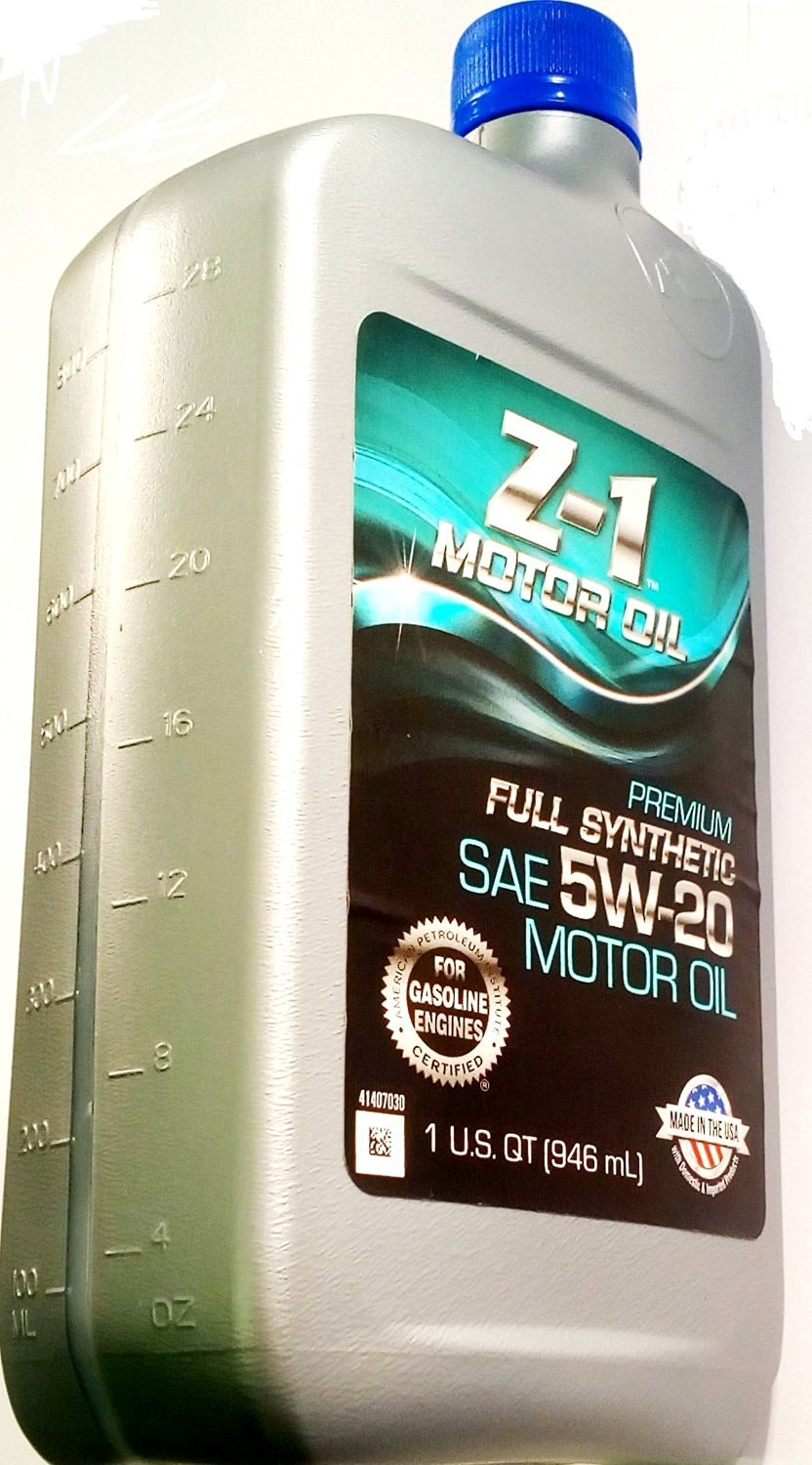 Genuine Z-1 Certified - Premium Full Synthetic Gasoline Engine Oil - SAE 5W-20 - Advanced Wear Protection- (1 U.S. Quart/946 mL) - Bottle - [CASE OF 12]