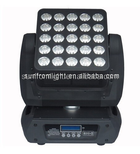 DMX control 25*12W RGBW 4in1 led matrix moving head