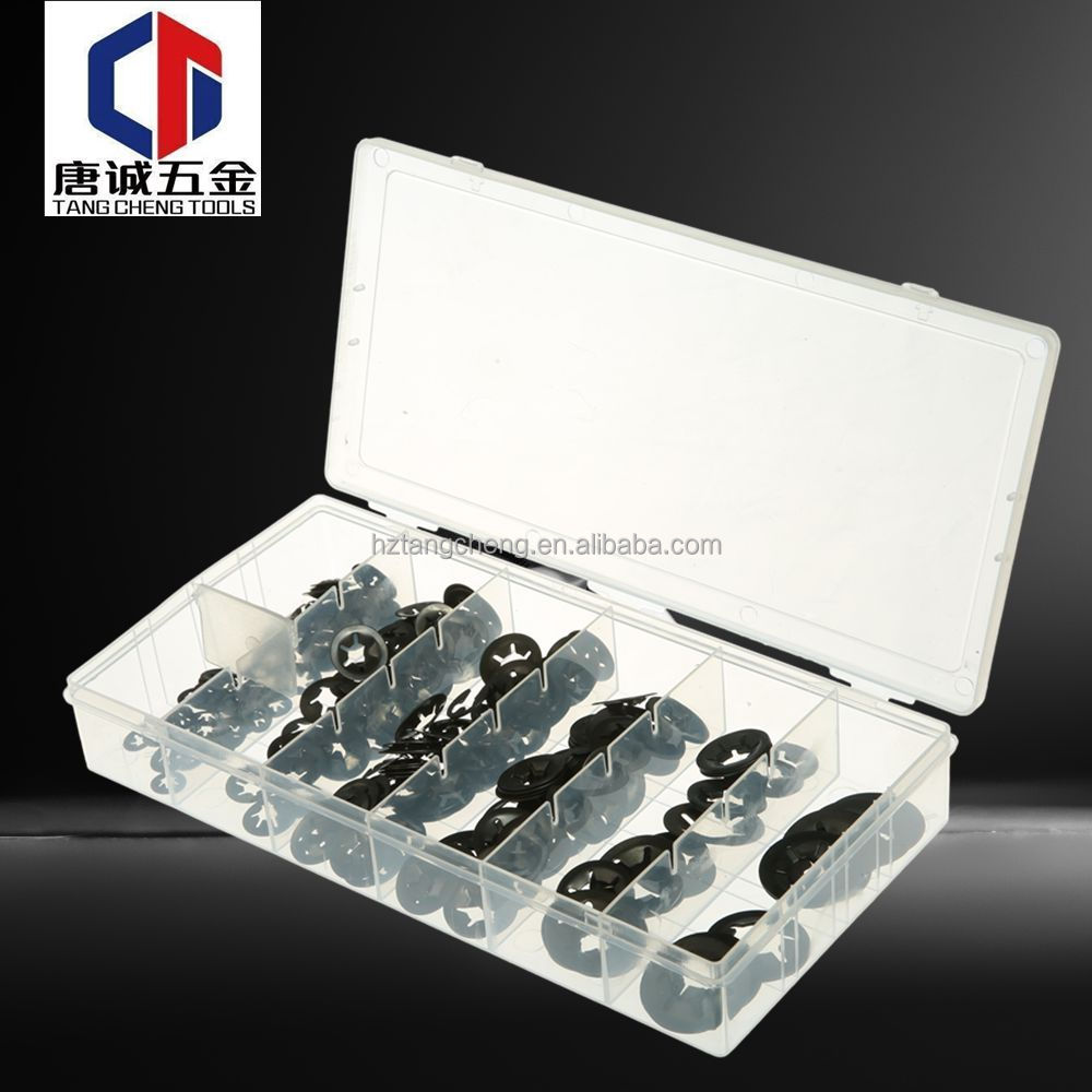 260PC Uncapped Wheel Retainers Accessories Precision Clip Washer Set
