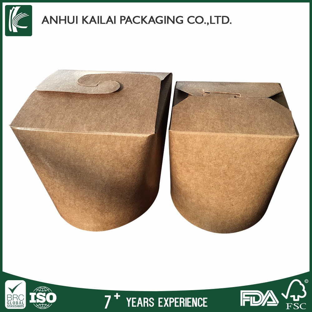 Recycled brown Kraft Paper Paper Type and Food Industrial Use kraft noodle box
