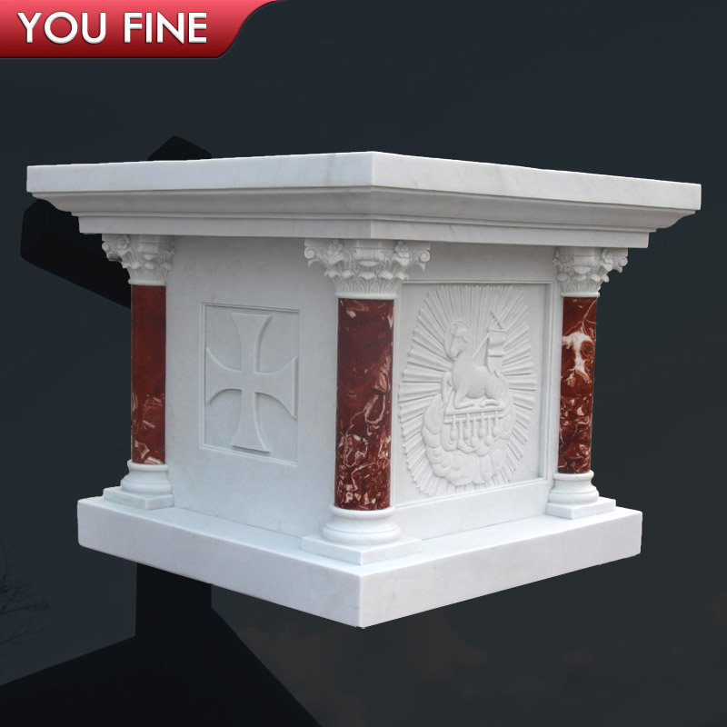 Catholic Altars For Sale: Carved Excellent Marble Catholic Altar Table