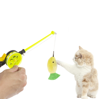 wholesale manufacturer best selling fish plush pole interactive cheap cat toy