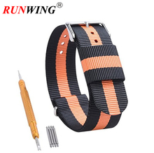 Watch Band NATO Strap Ballistic Nylon Straps Watchbands with Stainless Steel Buckle