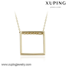 43763 different types Square Shape Pendant necklace, 1 gram gold necklace, fashion fake gold bangle