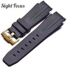 27x21 мм, силиконовая резина, ремешок для часов, ремешок для часов, браслет Montre Correas(Китай)
