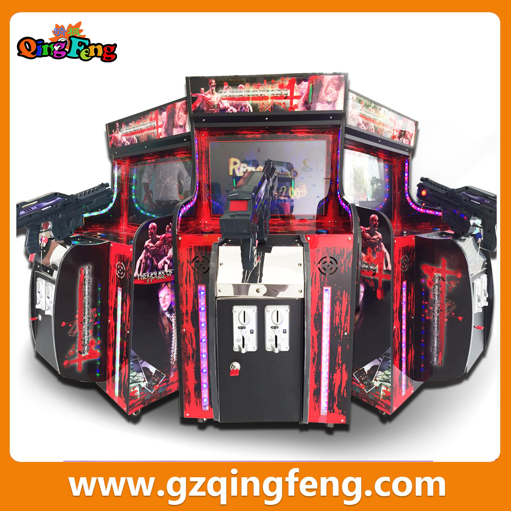 Qingfeng outdoor playground kids games mini arcade machine house of the dead game