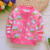 Yiwu wholesale autumn winter cotton plus velvet little girls print jacket children's jacket