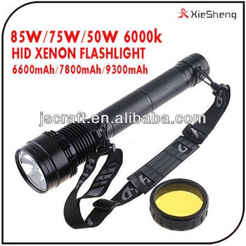 85W 75W 50W 38W CE ROHS 6600mAh Battery XENON High Power Hid Torch