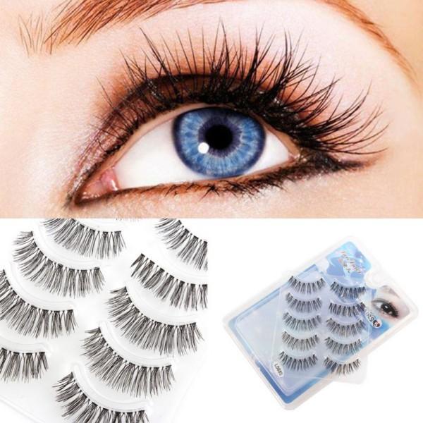 1b11b0116c3 Newest Handmade Natural False Eyelashes Makeup Long Wispy Fake Lashes Upper Fake  Eyelashes 5 pair – Unfair Weight
