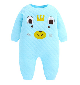 Infant&Toddler Clothing Plain Baby Rompers for Baby Onesie Long Sleeve Winter 100% Cotton