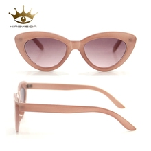 Fashion PC frame cat eye jelly pink lens ladies sunglasses