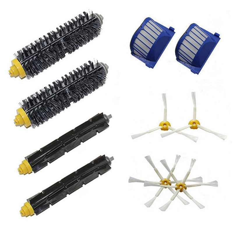 Cleaning Appliance Parts Bristle Flexible Beater Brush 3-armed Brush Aero Vac Filters Kit For Irobot Roomba 600 Series 620 630 650 660 Robot Vacuum Parts Home Appliances