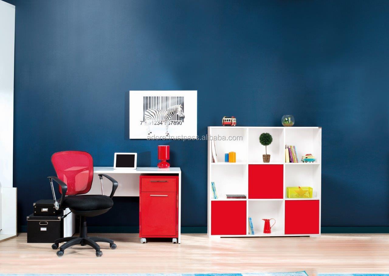 Lieben- rot weiß Teenager-Zimmer Set- a100/rot + weiße farbe ...
