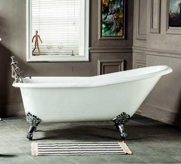 bathroom fittings deep cheap portable used cast iron bathtub for