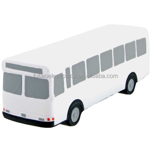 factory supplier promotional gift pu Metro Bus Stress Toy