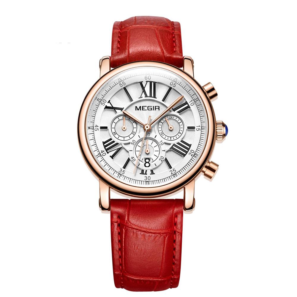 Famous Brand Megir Fashion Wrist Watch Women Quartz Luxury Waterproof Lady Watch фото