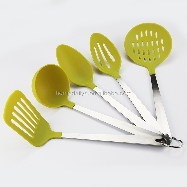 5PC Nylon Kitchen Tools With Stainless Steel Handle
