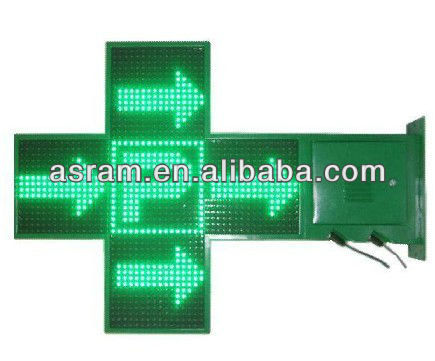 LED indoor Green Pharmacy Cross Sign, Hot!!Outdoor Green 3D LED Pharmacy Cross for Pharmacy Shop