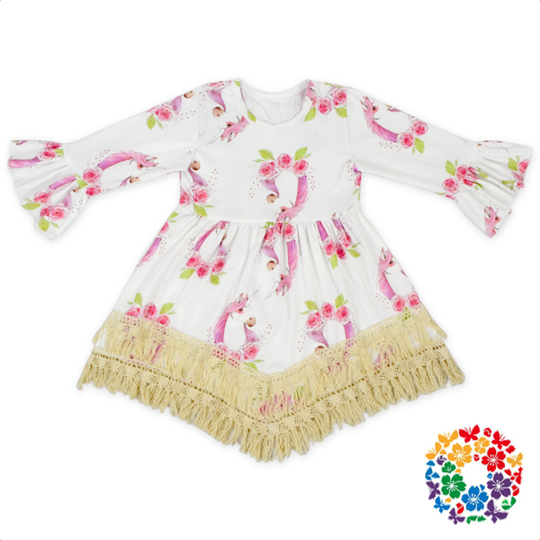 Long Sleeve Pattern Romper Festival Day 0-3 Years Old Girls Romper With Headband Cotton & Polyester One Piece Jumpsuit