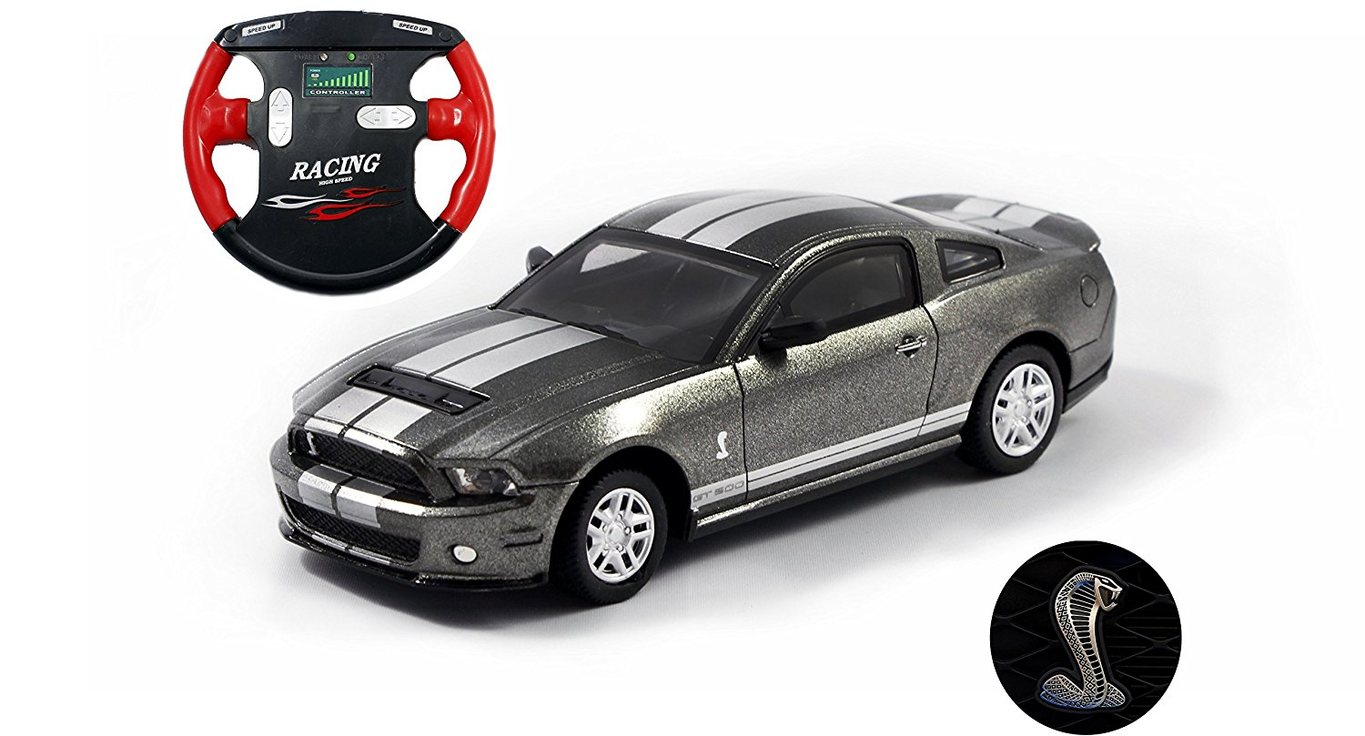 Get quotations · ford mustang shelby gt500 mini licensed rc car 1 43 scale gray w