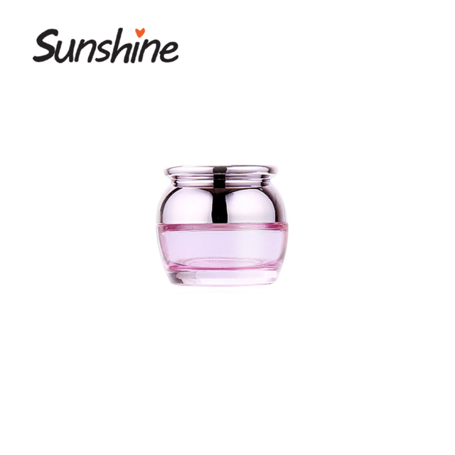 Cosmetics Glass Jar With Plastic Lid Free Sample cosmetic cream packaging for skin care cream