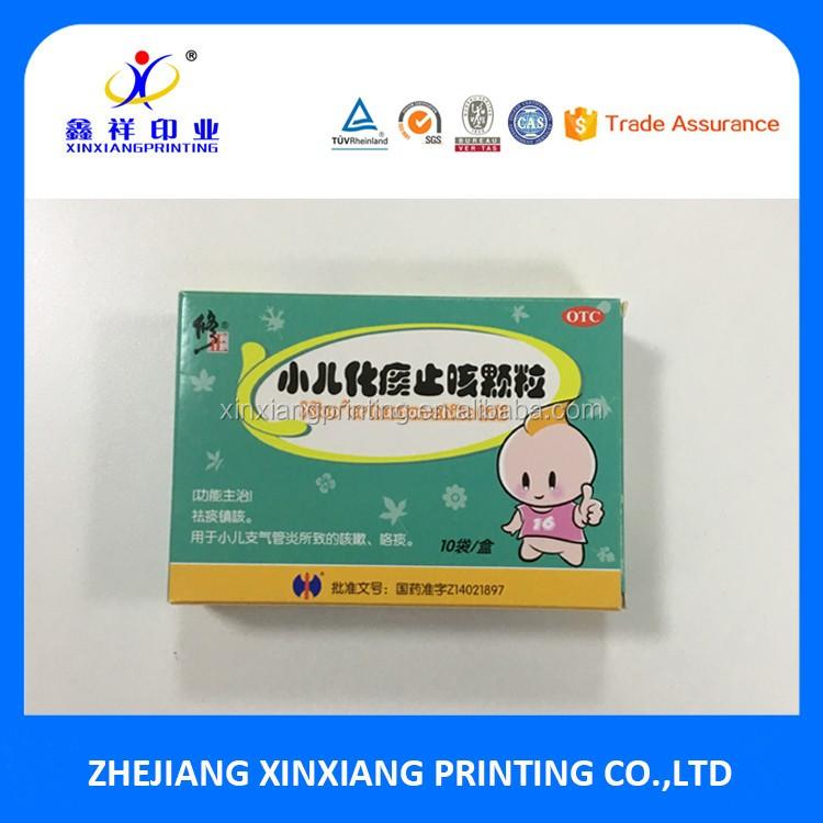 Kundengebundene Farb- / Logo- / Form-Kinder beständige Pappkarton-kundenspezifische Pillen-Kasten-Papierkasten für Pille