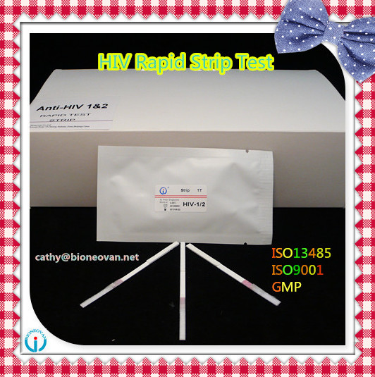 One step HIV 1/2 home rapid test kit / card/ strip