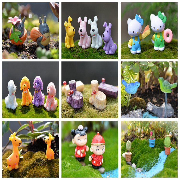 !! 2017 Hottest And Newest [} Bulk Mini Cute Animal Figurines For  Decorating Your Terrarium[} Resin Miniature Bulldog Figurines - Buy Bulldog