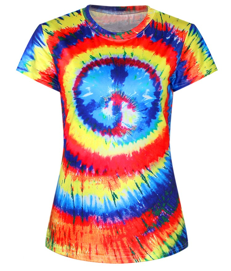 Rainbow Women Dylan Fit Casual Fashion Digital Printing Breathable Women's clothing
