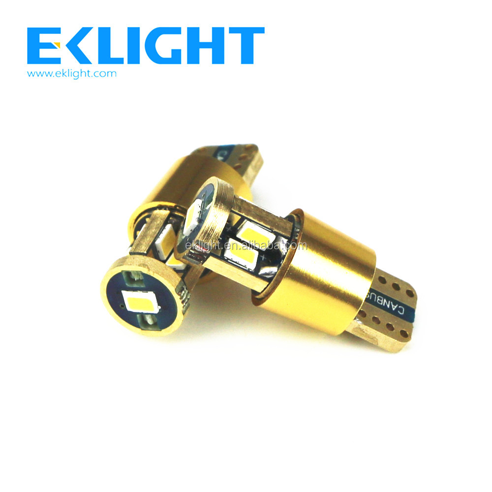 EKLIGHT Factory High Power White Amber Canbus T10 W5W Car Led Bulb