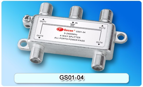 Gecen 5-2400MHz 4 way Satellite Splitter GS01-04